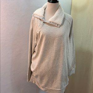 Sherpa Collar Sweatshirt - Heather Gray